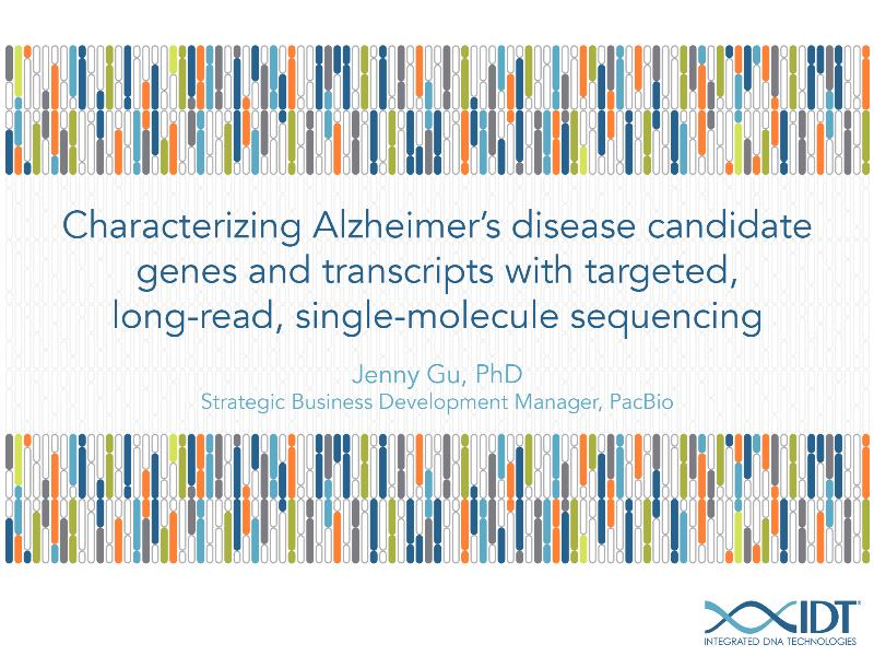 CharacterizingAlzheimersdiseasecandidategenesandtranscriptswithtargetedlong-readsingle-moleculesequencing