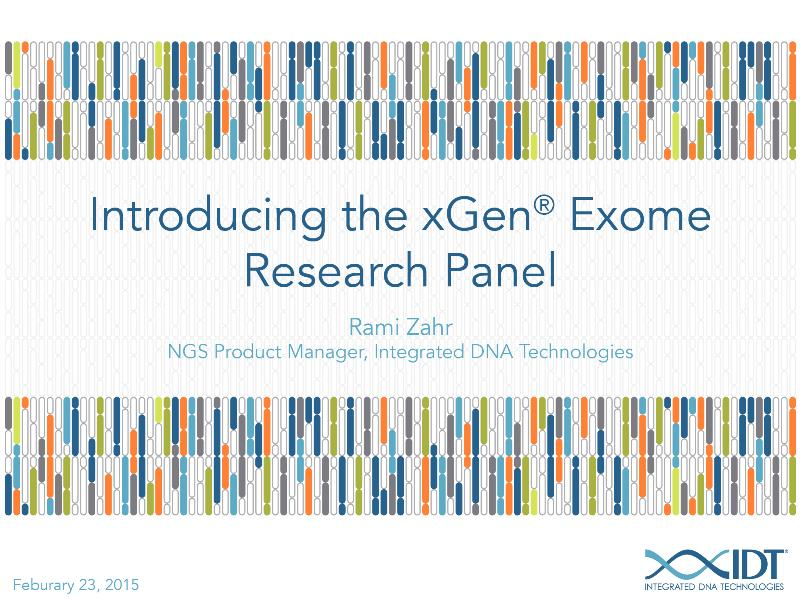 IntroducingthexGenExomeResearchPanel